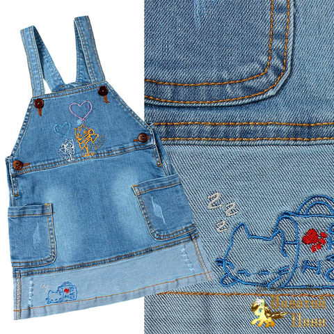 Сарафан джинсовый девочке (2-5) 210426-OP1148.1