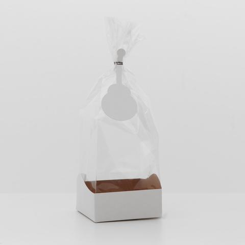 Пакет с жёстким дном, белый, 10 х 10 х 32 см