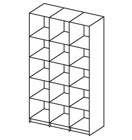 Шкаф-стеллаж №1.3