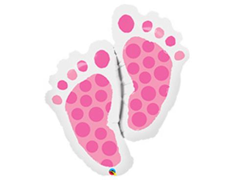 Фигура стопы девочки розовые