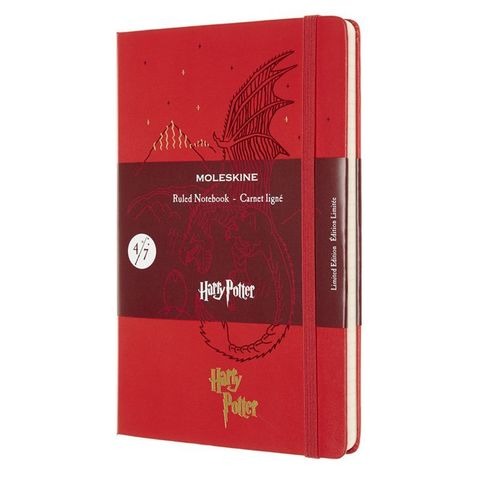 Блокнот Moleskine LIMITED EDITION HARRY POTTER LEHP02QP060D 130х210мм 192стр. линейка твердая обложка красный