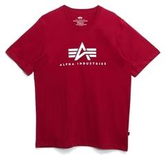 Футболка Alpha Industries Basic Logo Red (Красная)