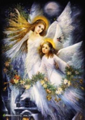 Картина раскраска по номерам 40x50 Ангелы ночью