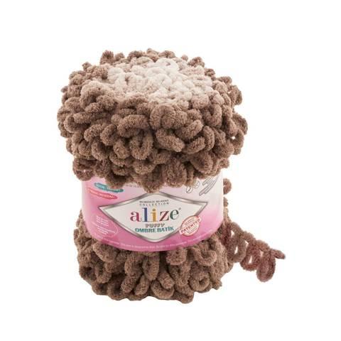 Купить Пряжа Ализе Пуффи Омбре Батик - цвет 7424 | Интернет-магазин пряжи «Пряха»