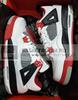 Air Jordan 4 Retro GS 'Fire Red' (Фото в живую)