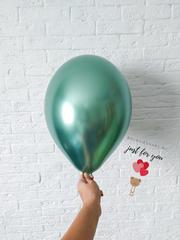 Зеленый шар тиффани хром