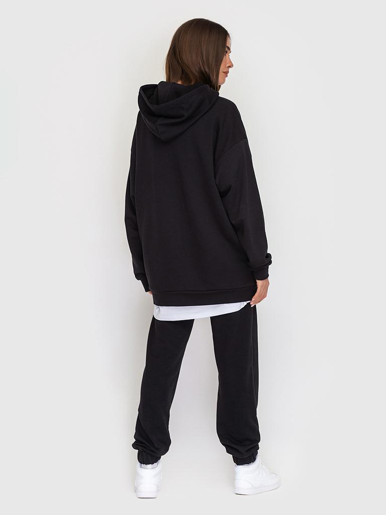 Костюм трикотажный черный YOS от украинского бренда Your Own Style