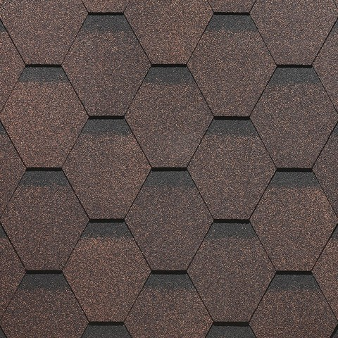 Черепица гибкая Docke Standard Сота коричневая