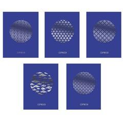 Тетради А5 48л. Скрепка. Клетка-TOTAL BLUE. Изысканный орнамент