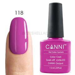 Canni, Гель-лак № 118, 7,3 мл