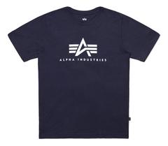 Футболка Alpha Industries Basic Logo Blue Женская (Синяя)