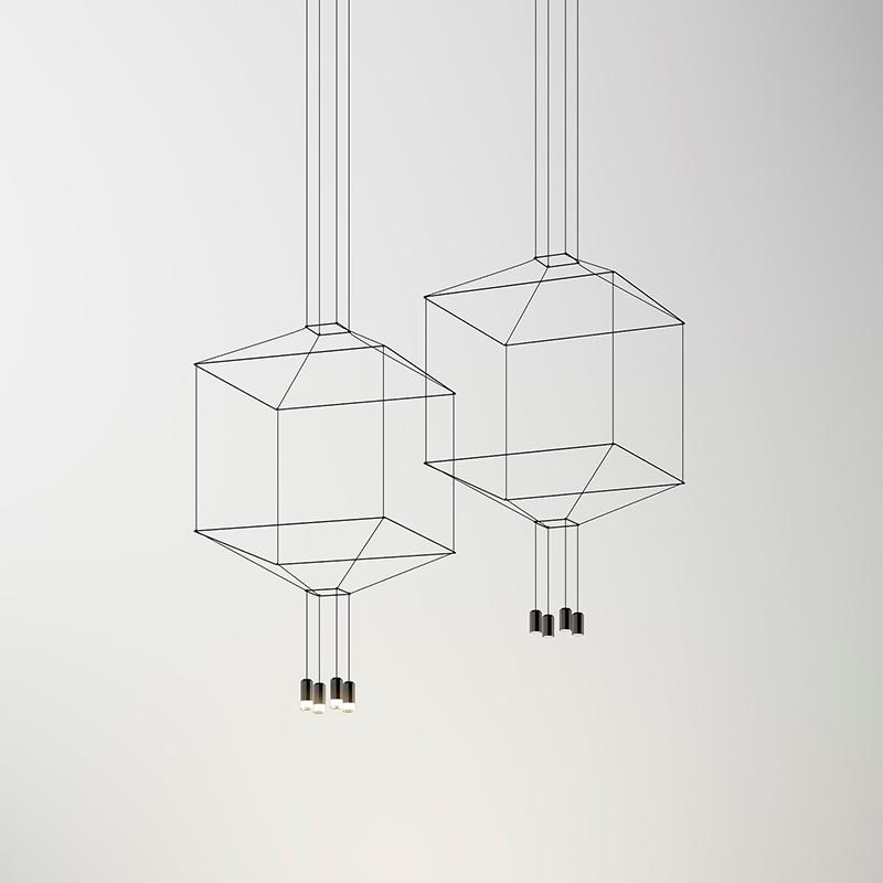 Подвесной светильник Vibia Wireflow square