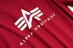 Футболка Alpha Industries Basic Logo Red (Красная)