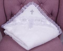 Комплект для крещения: крыжма Бантик + Фрак голубой