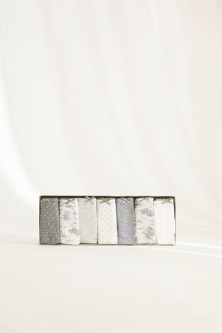 Набір з 7 трусиків-танга сірого кольору