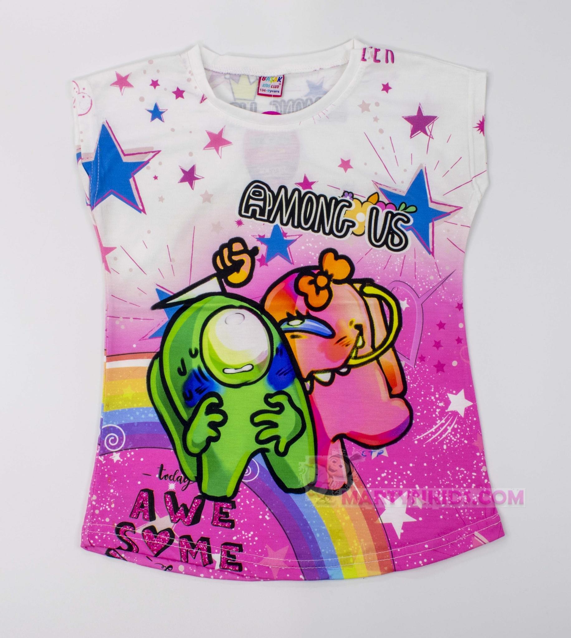 3499 футболка 3 D AMONG US Радуга