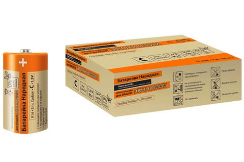 Элемент питания R14 C Zinc Carbon 1,5V SH-2 Народный