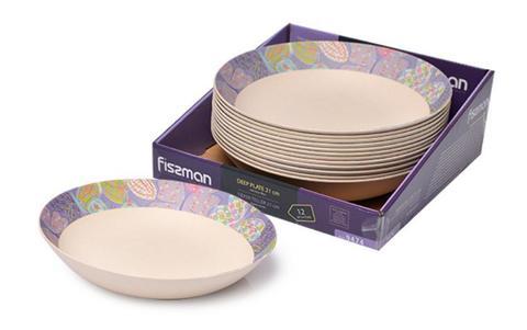 9474 FISSMAN Flower Глубокая тарелка 21 см из бамбукового волокна,  купить