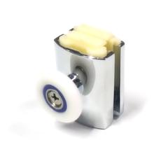 Ролик для душевой кабины М-01-В 26 мм. Полиуретановый ролик закрытый подшипник. Регулировка винтом. Пластиковый корпус с хромированым покрытием.