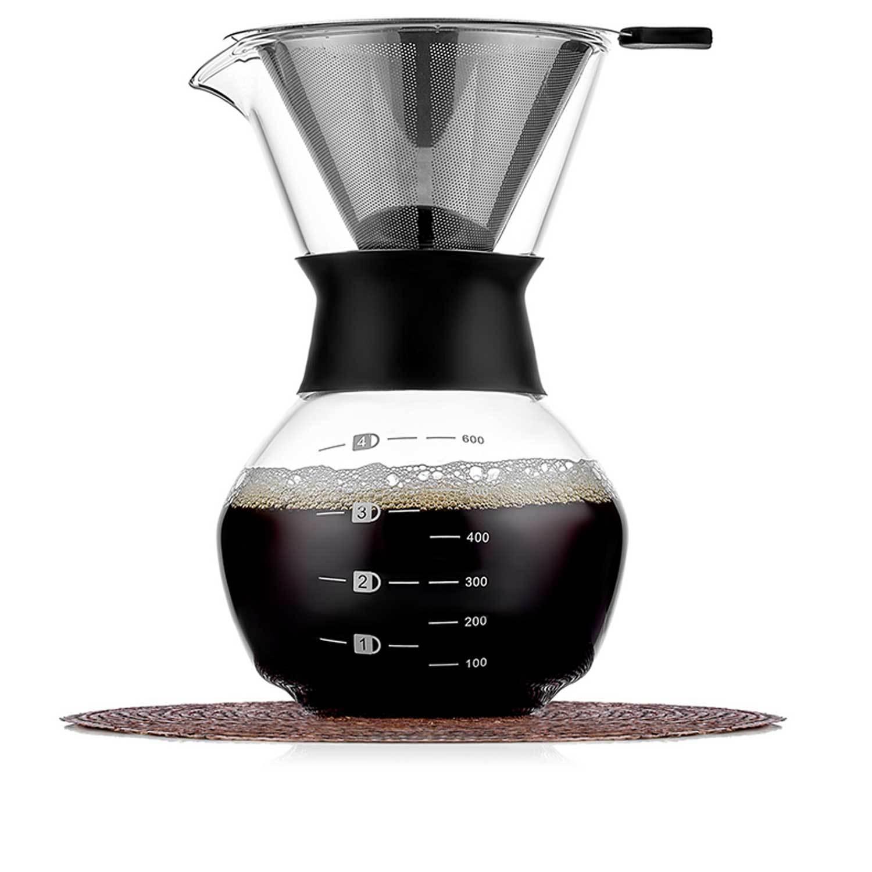 Заварочные стеклянные чайники Кофеварка Кемекс (Chemex) 600 мл кофеварка с многоразовым фильтром Chemex-Kemex-600ml-teastar.jpg