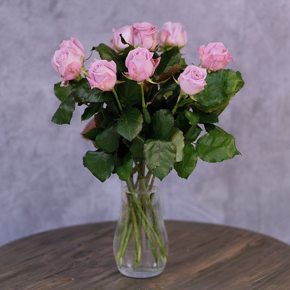 купить заказать онлайн сиреневые розы с доставкой на дом пермь