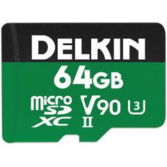 Карта памяти Delkin Devices MicroSDXC 64GB 2000x 300MB/s UHS-II, V90, U3, Class 10