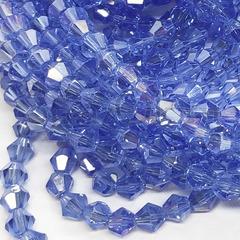 Бусины биконусы купить оптом светло-синие Light Sapphire ML
