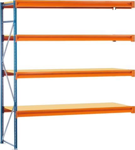 Приставной стеллаж с длинными полками глубина 600 мм