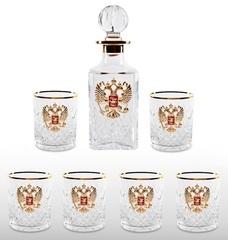 Хрустальный набор для виски со штофом «Президент», фото 1