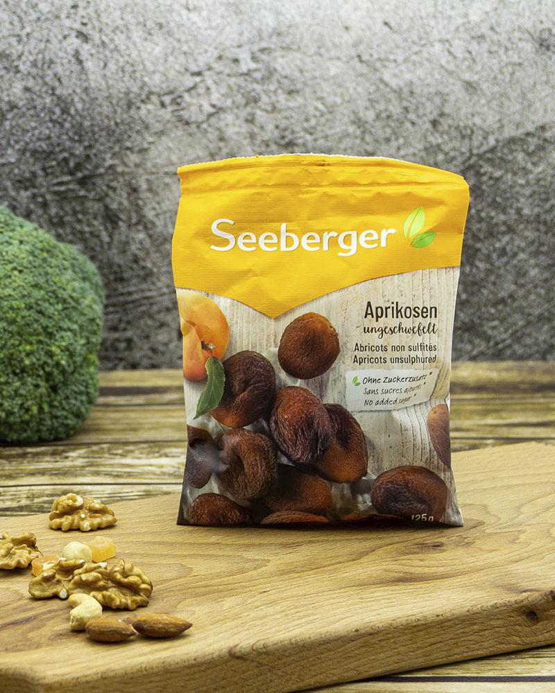 Абрикосы Seeberger Сушеные Несульфитированные 125 гр.