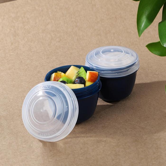 """Контейнер для йогурта Sistema """"Renew"""" 150мл, 2шт., цвет Синий"""