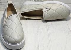 Закрытые туфли слипоны женские лето Alpino 21YA-Y2859 Cream.