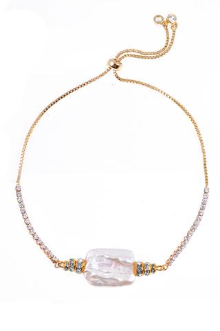 Браслет Aurora Metallo Crystal золотистый