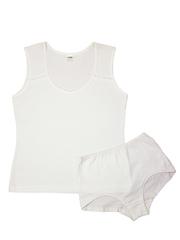Комплект для девочки 7656 Купалинка, цвет: белый