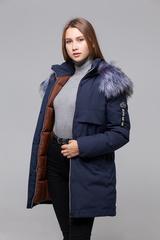 Куртка утепленная с меховым капюшоном надяшоп