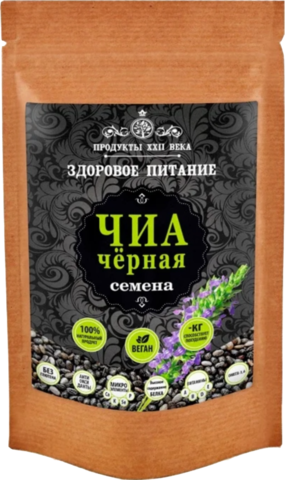 Продукты ХХII века Чиа черная семена, 100 г