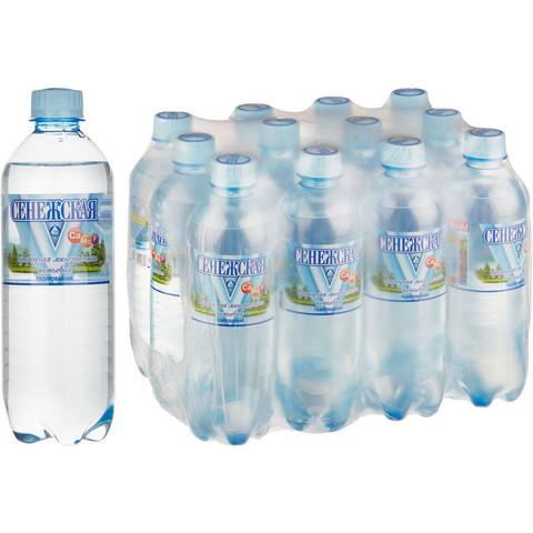 Вода минеральная Сенежская газированная 0.5 л (12 штук в упаковке)