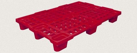 Поддон пластиковый перфорированный 1200x800x150 мм. Цвет: Красный