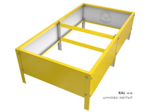 Оцинкованная грядка с полимерным покрытием RAL 1018 цинково-жёлтый