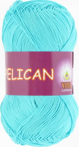 Пряжа Pelican (Vita cotton) 3999 Светлая голубая бирюза