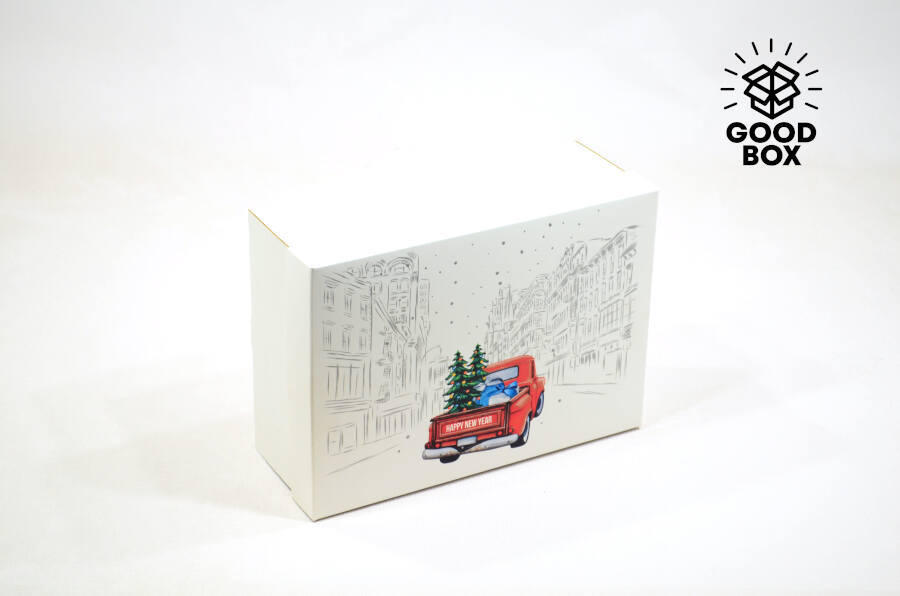 Новогодняя подарочная коробка купить в Алматы