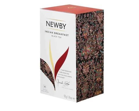 Чай черный в пакетиках Newby Indian breakfast, 25 пак/уп