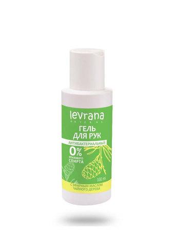 Levrana Гель для рук - Антибактериальный, с эфирным маслом чайного дерева, 100мл