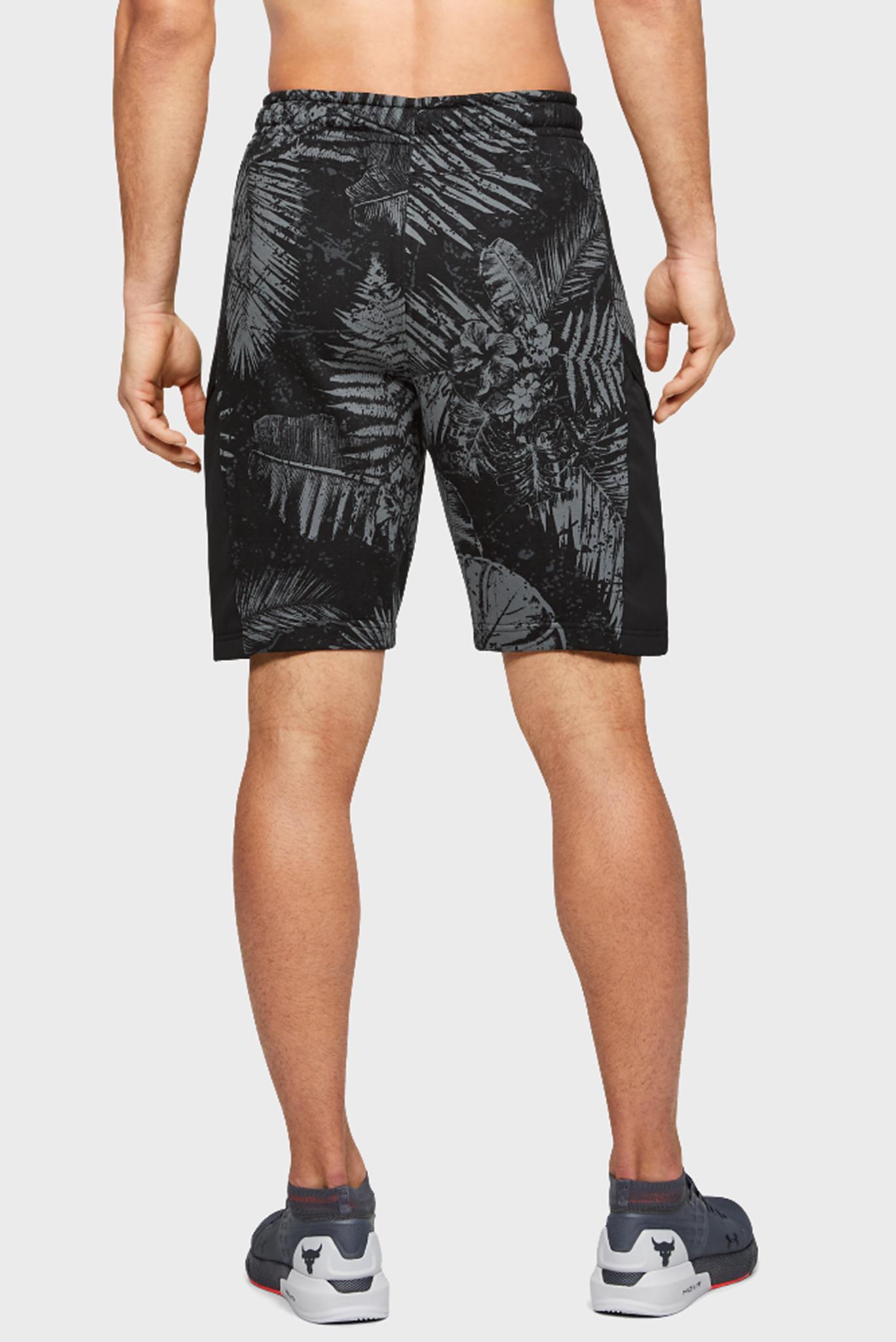 Мужские черные спортивные шорты Project Rock Terry Printed Short Under Armour
