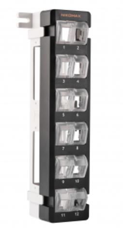 Патч-панель NIKOMAX NMC-WP12-BLANK-BK