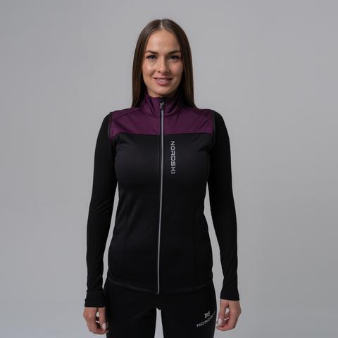 Жилет разминочный Nordski Active purple/black W женский