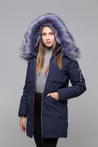 Куртка утепленная с меховым капюшоном