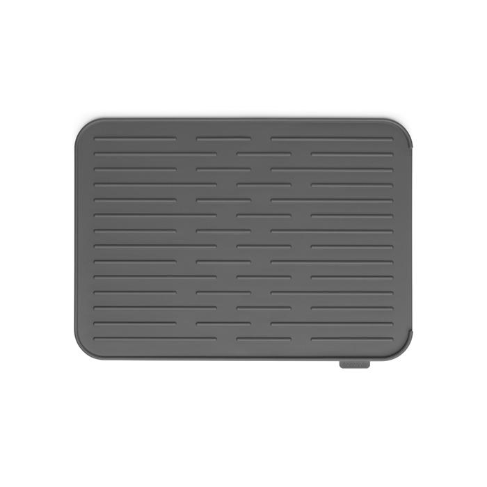 Силиконовый коврик для сушки посуды, Темно-серый, арт. 117442 - фото 1