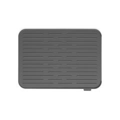 Силиконовый коврик для сушки посуды, Темно-серый