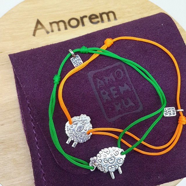 Sheep bracelet, sterling silver charm